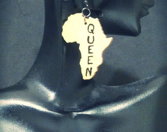 Queen Africa/Africa Queen Earrings MADE TO ORDER