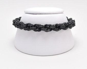 Double Spiral Bracelet in Black Niobium