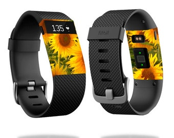 Skin Decal Wrap for Fitbit Blaze, Charge, Charge HR, Surge Watch cover sticker Sunflowers