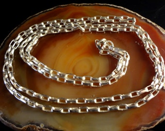 Sterling Silver Chain 28 inches, Handmade, 925, Sterling Silver
