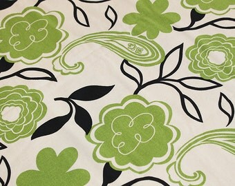 Modern Green Floral Home Dec Fabric Destash, F218