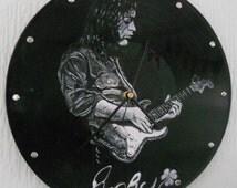 Personalised Vinyl Clock - Vinyl Art Clock - Custom Made Designs handpainted and made to order