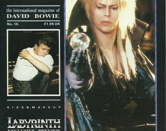 DAVID BOWIE starzone number 16 international magazine 24 pages 1986 july/sept