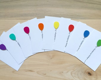 Happy Birthday Card Set, Cute Birthday Cards, Set of Happy Birthday Cards | Set of 8