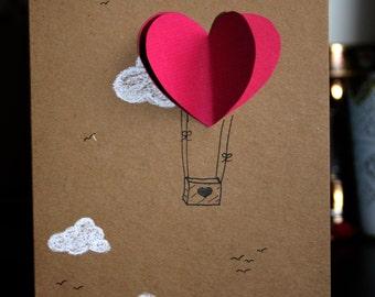 3D card - invitation - wedding - greeting card