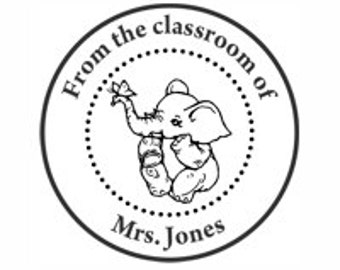 Teacher's Library Custom Stamp - C690