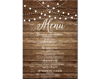 Printable Wedding Menu Sign, Wedding Printable Menu Sign, Wedding Menu Poster, Printable Sign, Wedding Menu Board, Menu Poster #CL101