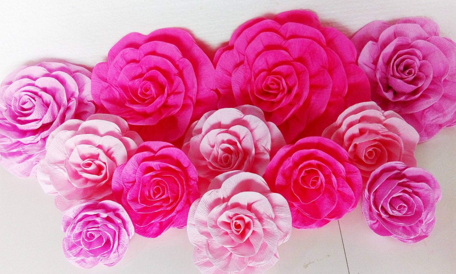 10 giant large paper flowers wall bridal baby kate shower zoom dhlflorist Images