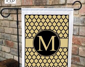 Monogram Yard Flag, garden flag, garden gift, outdoor decor, personalized flag, yard flag, gardener gift, yard art, garden