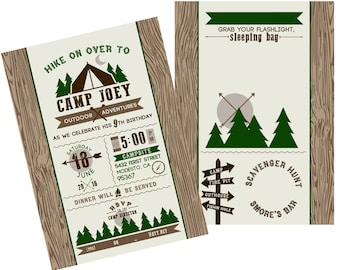 Camp Out Invitations - 25