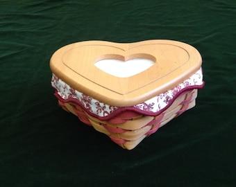 Longaberger Woodcrafts Little Love Basket Set