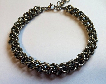 Inverted round maille bracelet - chainmaille bracelet