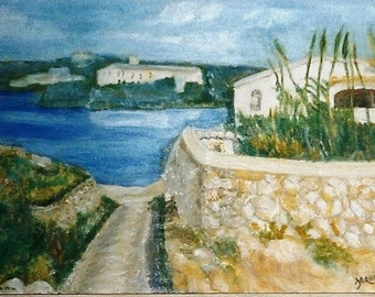 "Minorca. Folded Greeting Card 8""x6"" From my original oil painting. Blank for your own message ."
