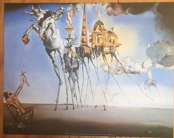 Salvadore Dali The Temptation Of St. Anthony  print poster wall art 11 x 14