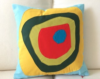 "Square ""circles"" cushion"