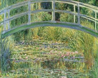 Claude Monet: Waterlily Pond. Fine Art Print/Poster. (003217)