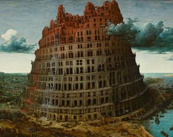 Pieter Bruegel the Elder: The Tower of Babel. Fine Art Print/Poster. (002009)