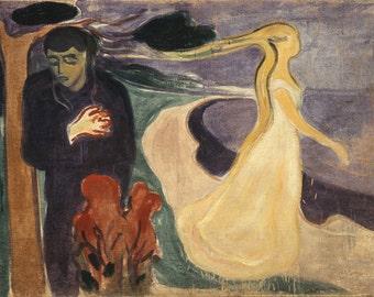 Edvard Munch: Separation. Fine Art Print/Poster (0078)