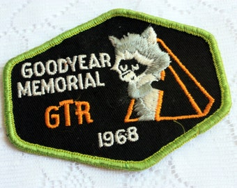 Vintage Boy Scouts Patch vintage GoodYear Memorial  patch GTR 1968 Scouts patch -  vintage BSC vintage BSA