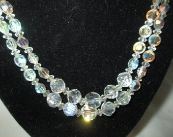 Beautiful Austrian Crystal double strand beaded necklace