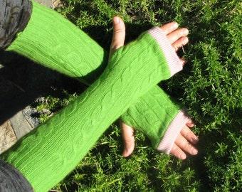 Cashmere Gloves - Fingerless Gloves - Cashmere Mix