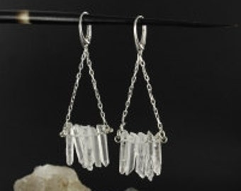 Cristal earrings - Dangle earrings - Bridal earrings - Boho earrings - Handmade
