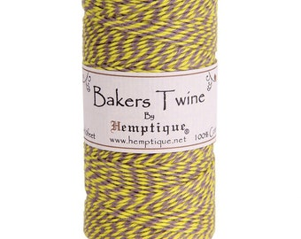 5 Meters of Hemptique Bakers Twine In Carnival 2ply Twine Crafting Supplies Decorations Gift Wrapping