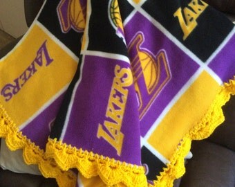 Lakers Baby Blanket Etsy