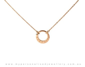 minimalist necklace , dainty delicate necklace , offset initial necklace, simple gold jewelry,minimalist necklace ,rose gold circle necklace
