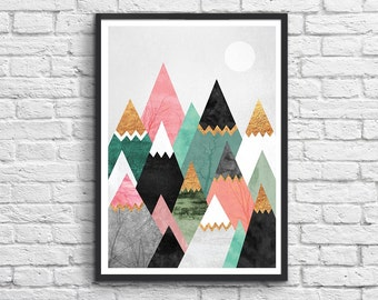 Art-Poster 50 x 70 cm - Pretty Mountains