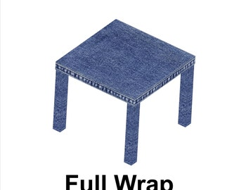 Denim Blue Jean Print Wrap to cover Ikea Lack Side Table