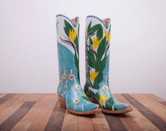 Womens boots - Leather boots - Cowboy Boots - Womens cowboy boots - Leather Cowboy Boots -Handmade Boots Shoes -womens shoes -leather shoes