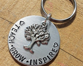 Teacher gift - Teacher Keychain - Educator gift - Teacher Appreciation - Thank You Gift - Educator key ring - Teacher Key Chain - Key Ring