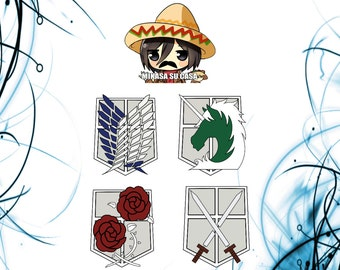 """Shop """"attack on titan"""" in Craft Supplies & Tools"""