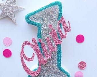 Glitter Candle | Custom Glitter Candle | Birthday Cake Candle