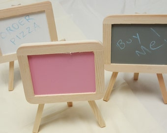small easels with writing or paint surface made of wood craft supplies mini painting easel and paint surface are attached chalk paint