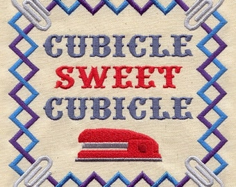 Cubicle Sweet Cubicle floursack teatowel/dishtowel