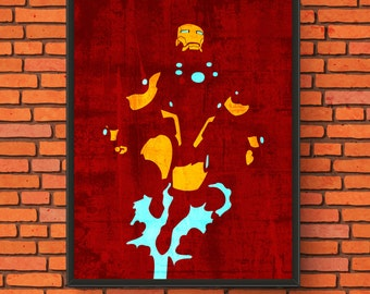 Minimalism Art - Iron Man Print