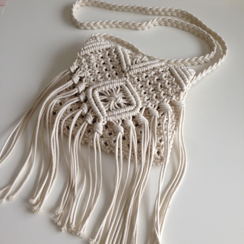 coachella crossbody macrame handbag festival by mariaangelaforioso. Black Bedroom Furniture Sets. Home Design Ideas