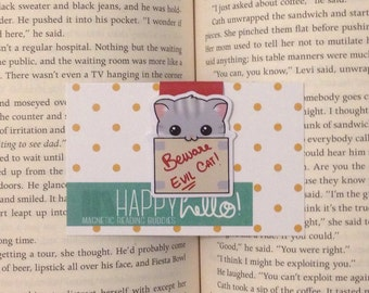 Magnetic Bookmarks • Cat in a Box