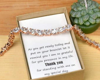 Bridal Party Gift, Bridal Party Jewelry,Wedding bracelet,Mother of the Bride Gift, Personalized Bridesmaids Gift,Mother of the Groom Gifts,