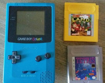 Game boy color with two games