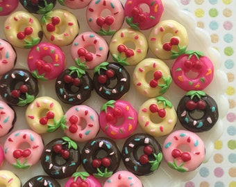 Doughnut Cabochons - Donut Cabochon - Kawaii Decoden Cabochons