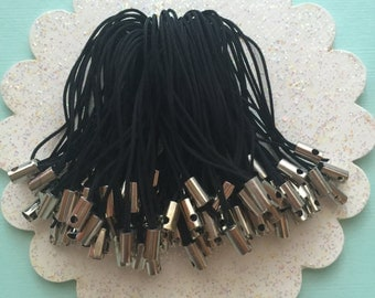 25 pieces - Black -  Cell Phone Strap - Cell Phone Lanyards - Straps