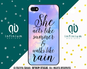 She Acts Like Summer, iPhone 6S Case, iPhone SE Case, iPod Touch 6 Case, iPhone 6 Plus Case, iPhone 6, iPhone 5S & iPhone 5C Case