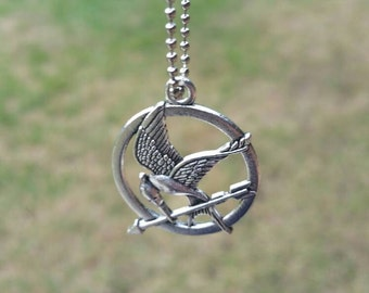 HG Inspired Necklace/HG Pendant/Mockingjay Necklace/Fan Jewelry