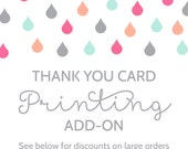 Printing Add-On for Thank You Cards
