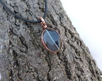 Agate Necklace, Copper Necklace, Men's Necklace, Women's Necklace, Agate Pendant, Copper Pendant, ColeTaylorDesigns
