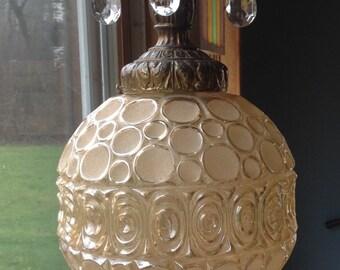 SALE / 25 % OFF! / Vintage Glass Hanging Light  /
