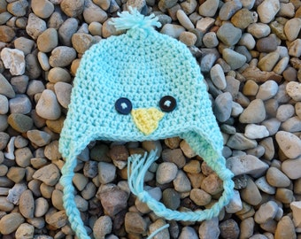 6-12 Months Baby Bird Hat--Mint
